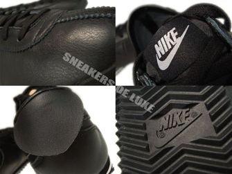 487777-010 Nike Cortez Classic OG Leather Black/Black-White