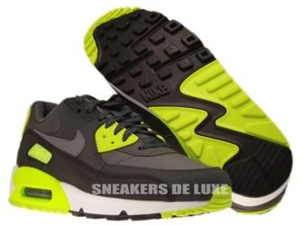 537384-007 Nike Air Max 90 Essential Dark Grey/Cool Grey-Anthracite-Volt