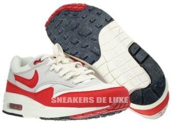 554717-160 Nike Air Max 1 OG Sail/University Red-Neutral Grey-Black