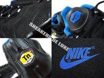 605112-028 Nike Air Max Plus TN 1 Black/Metallic Silver- Soar-White