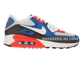 636229-003 Nike Air Max Lunar 90 C3.0 Light Base Grey / White - Military Blue - Photo Blue