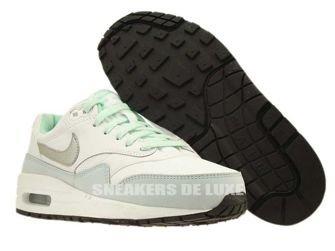 653653-105 Nike Air Max 1 White/Metallic Silver-Anthracite-Medium Mint