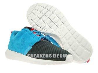 685196-400 Nike Rosherun NM FB Blue Lagoon/Classic Charcoal-Pure Platinum-Brown
