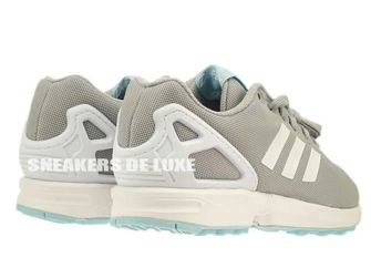 B34058 adidas ZX Flux Clear Onix / Ftwr White / Blush Blue