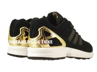 B35319 adidas ZX Flux Core Black / Core Black / Gold Met.