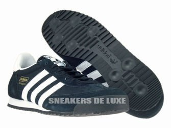 G16025 adidas Dragon core black / white / gold met.