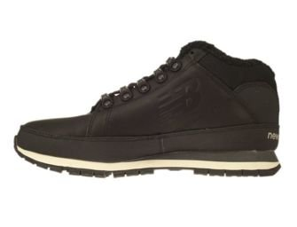 New Balance HL754BN Black Leather Fur