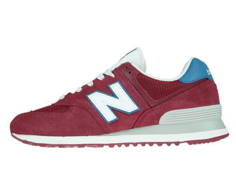 New Balance ML574OBC Scarlet with Light Blue