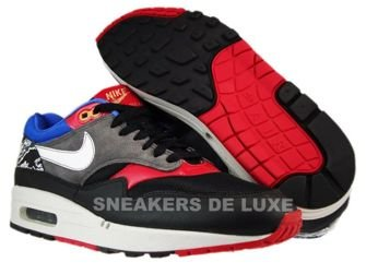 Nike Air Max 1 Black/White-Varsity Red-Varsity Royal 308866-011