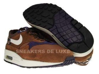 Nike Air Max 1 Medium Brown/Granite-Canvas Purple-Black 308866-202