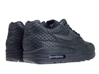 Nike Air Max 1 Premium 454746-014 Black/Black-Anthracite