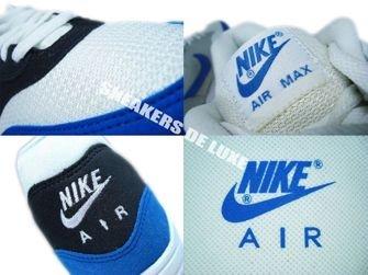 Nike Air Max 1 White/Signal Blue-Anthracite-Platinum 308866-109
