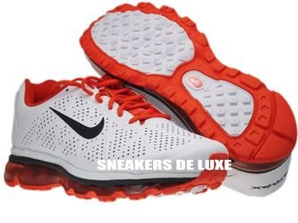 Nike Air Max 2011+ LeatherWhite Anthracite/Team-Orange 456325-102