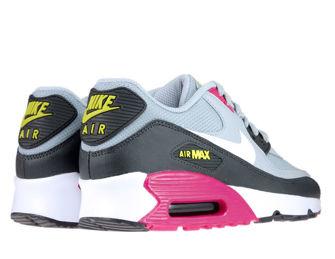 Nike Air Max 90 833418-027 Wolf Grey/White-Rush Pink-Volt