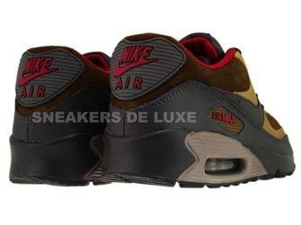 Nike Air Max 90 Mid Fog/Deep Red-Metallic Gold