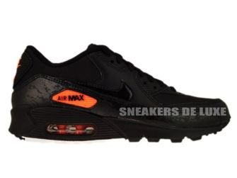 Nike Air Max 90 Premium Black/Total Orange 333888-004