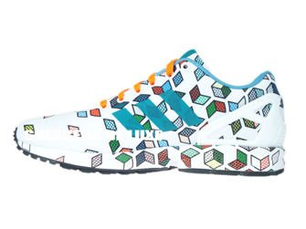 S79096 adidas ZX Flux ftwr white / ftwr white / solar orange