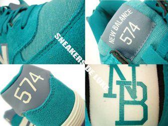 WL574PGW New Balance 574 Pennant Pack Green / White